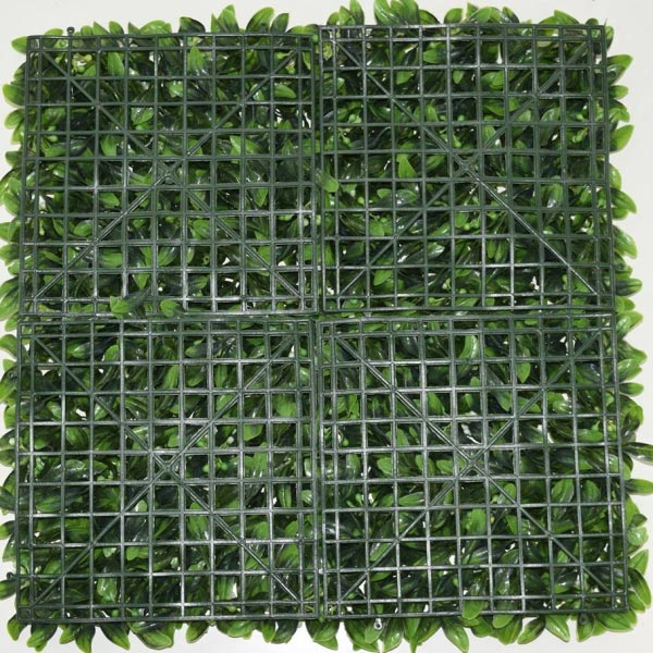 Artificial Floral Hedge Panel back