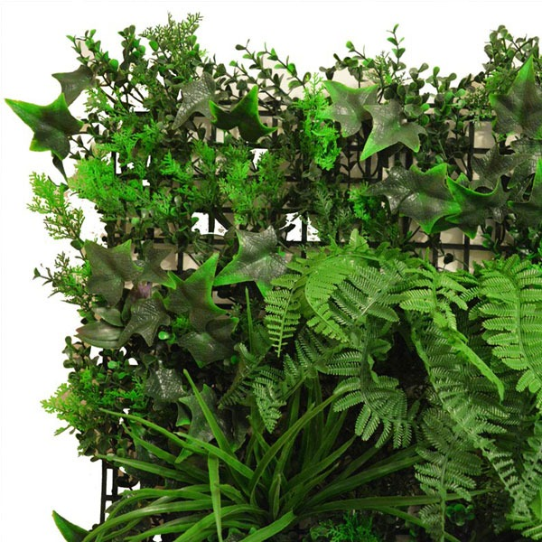 Artificial Instant Green Wall Hedge Panel Mixed Plants 100cm X 100cm