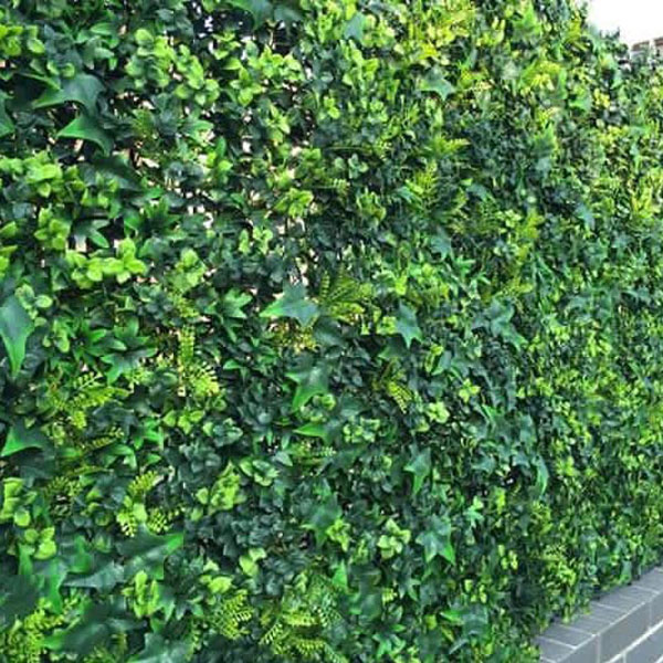 Artificial Ivy Bush Hedge Screening Tile 50cm X 50cm