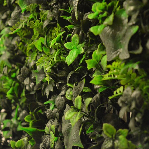 Artificial Multi Leaf Hedge Screening Tile 50cm X 50cm