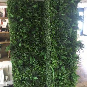 Fire Retardant Artificial Green Wall Hedge Panel 100x100cm