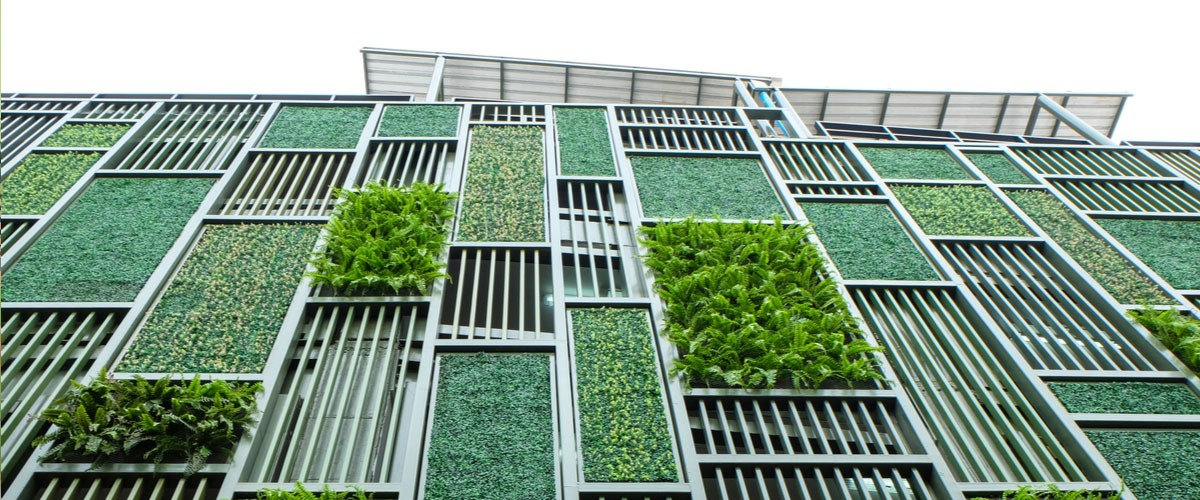 Outdoor Architectural artificial wall plants