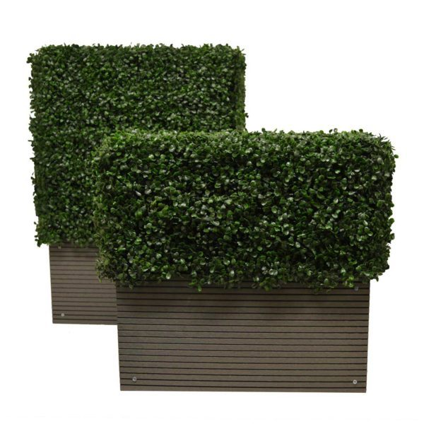 artificial boxwood hedge planter