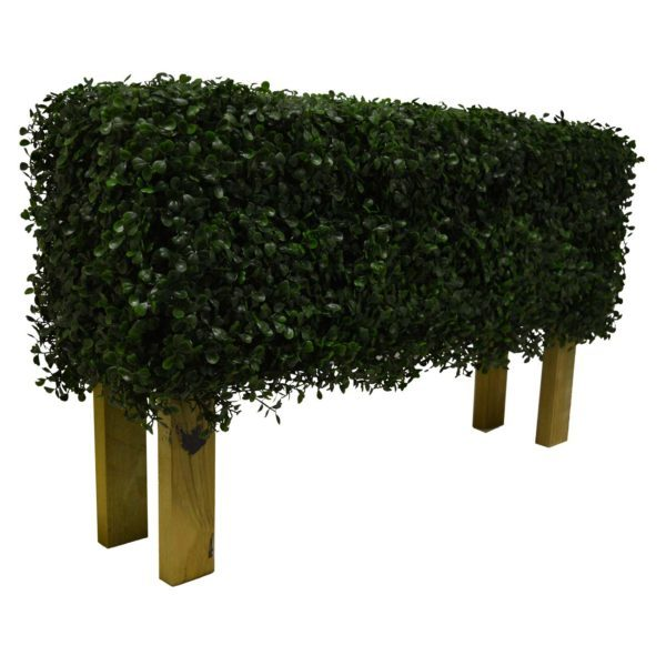 artificial boxwood hedge with legs