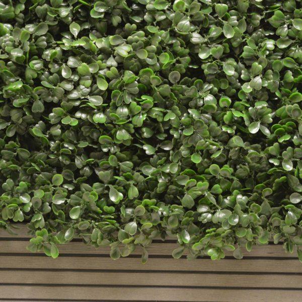Artificial Box Hedging With Composite Decking Planter 1m L x 50cm H x 25cm D