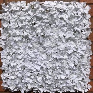 Artificial White Hydrangea Silk Flower Panel
