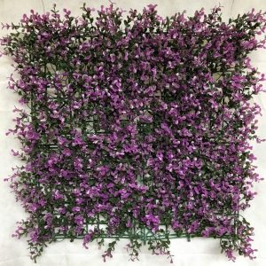 purple boxwood hedge panel