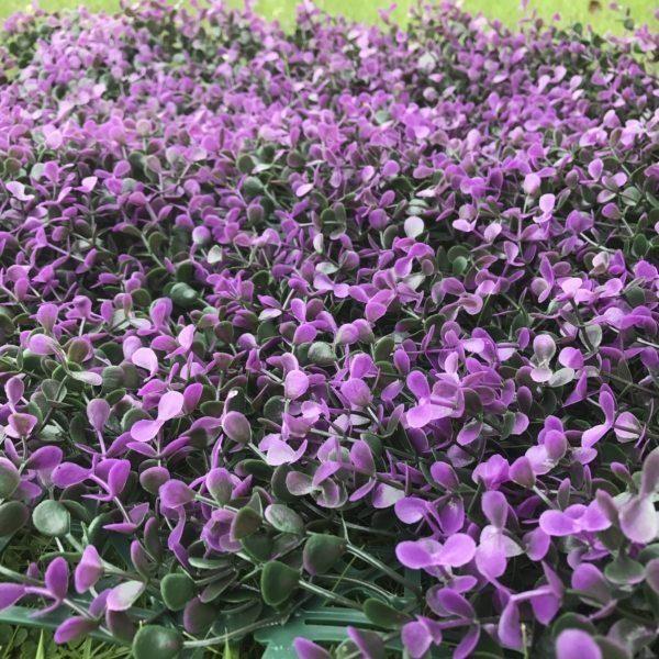 Artificial Hedge Panel Purple