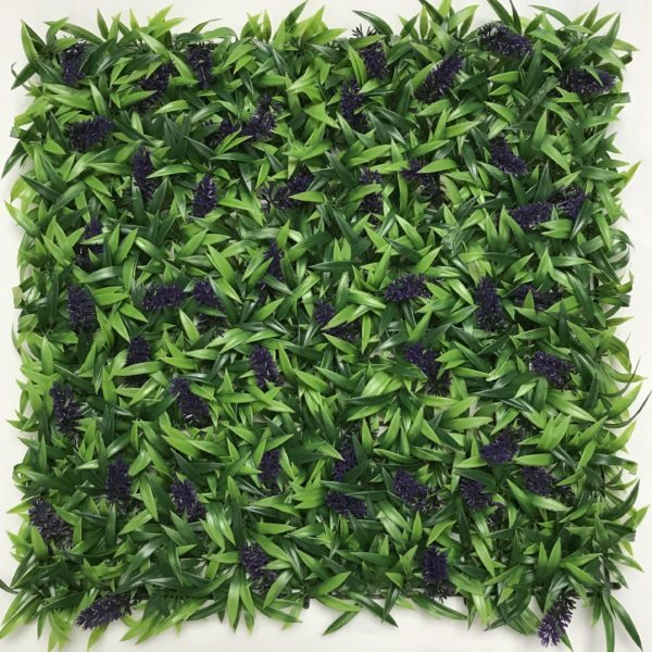 Artificial Lavender Hedge Panel
