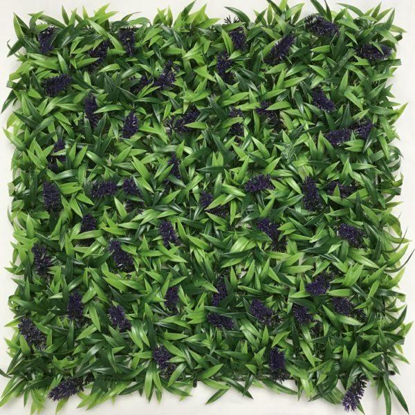 Artificial Lavender Hedge Panel